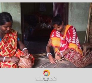 Indian Artisans working with Bamboo